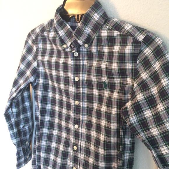 d550c75e Ralph Lauren Boy's Plaid Button Down Shirt
